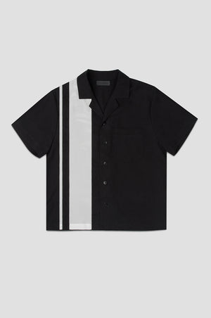 Mens bowling shirt black