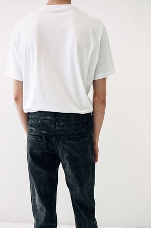 Mens waxed jeans