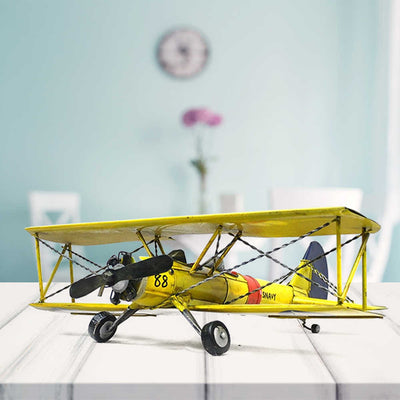 Vintage Metal Airplane Model