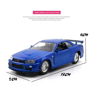 1/32 Scale Nissan GTR Metal Car Model