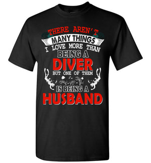 Husband and Diver T-shirt