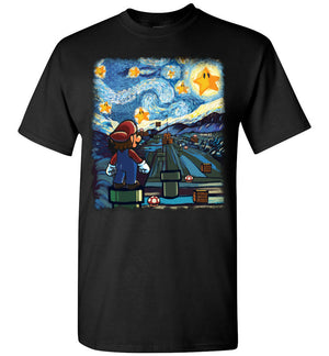 Mario Starry Night T-shirt