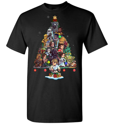 SW Characters Christmas T-shirt (new version) - Kid