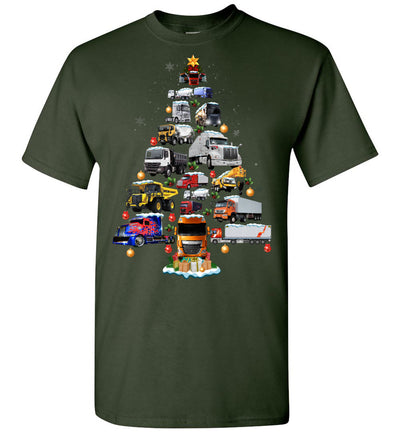 Trucker Christmas T-shirt