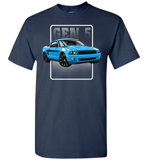 Mustang Gen 5 Cartoon Art T-shirt