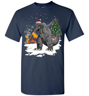 Godzilla Dabbing For Christmas T-shirt 1