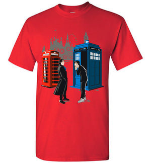 Sherlock vs The Doctor T-shirt