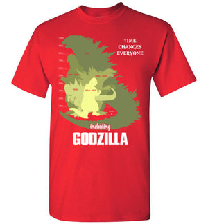 GODZILLA GREW UP BY TIME T-SHIRT