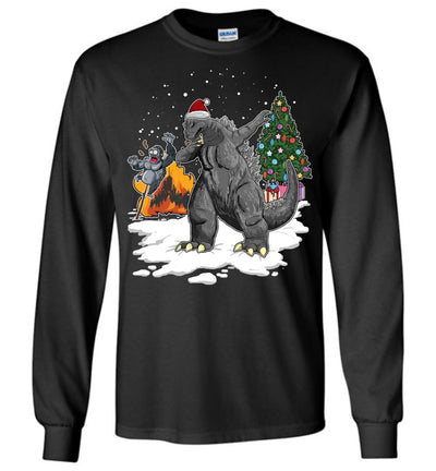Godzilla Dabbing For Christmas Sweatshirt 1