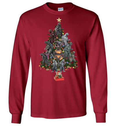 Godzilla Christmas Tree T-shirt