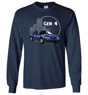 Mustang Gen 4 Cartoon Art T-shirt