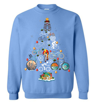 Bicycling Christmas Sweatshirt