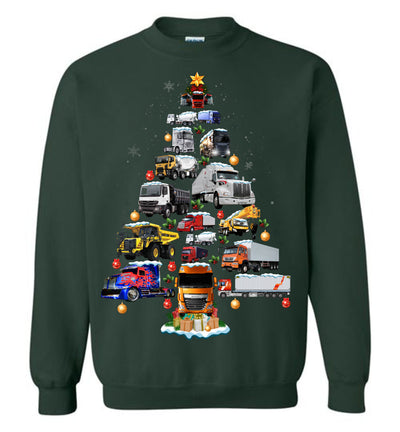 Trucker Christmas Sweatshirt