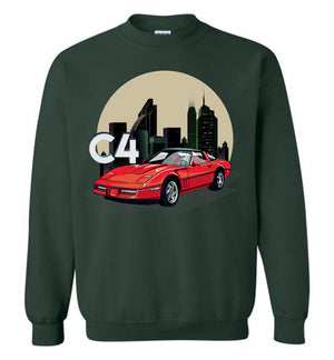Vette C4 Cartoon Art T-shirt