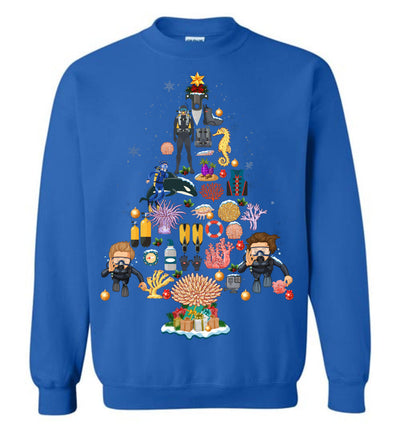 Scuba Diving Christmas Sweatshirt