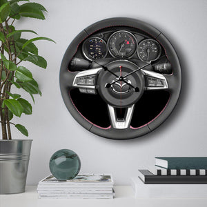 Mazda MX5 Steering Wheel Wall Clock