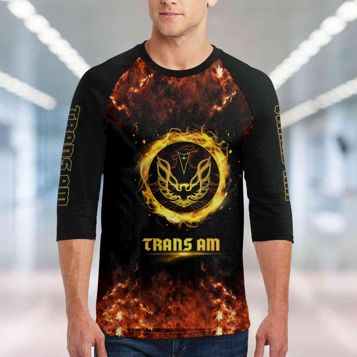 Trans Am Unisex 3/4-Sleeve Raglan T-Shirt
