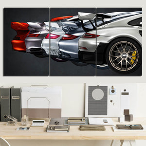 Nine-one-one GT2 Evolution Canvas Wall Art (new version)