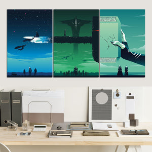 Thor Trilogy Canvas Wall Art