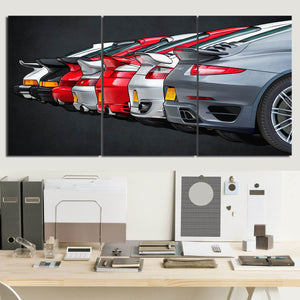 911 Turbo Evolution Canvas Wall Art (new version)