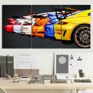 Nine-one-one GT3 Evolution Canvas Wall Art (new version)