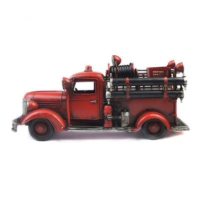 Vintage Metal Craft Fire Truck V.2
