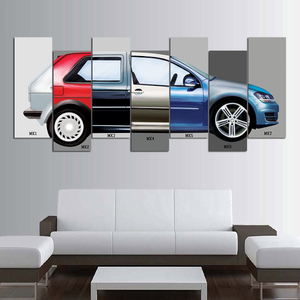 VW Golf Museum Canvas Wall Art
