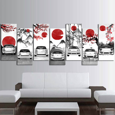 Nine-One-One Eastern Style Canvas Wall Art