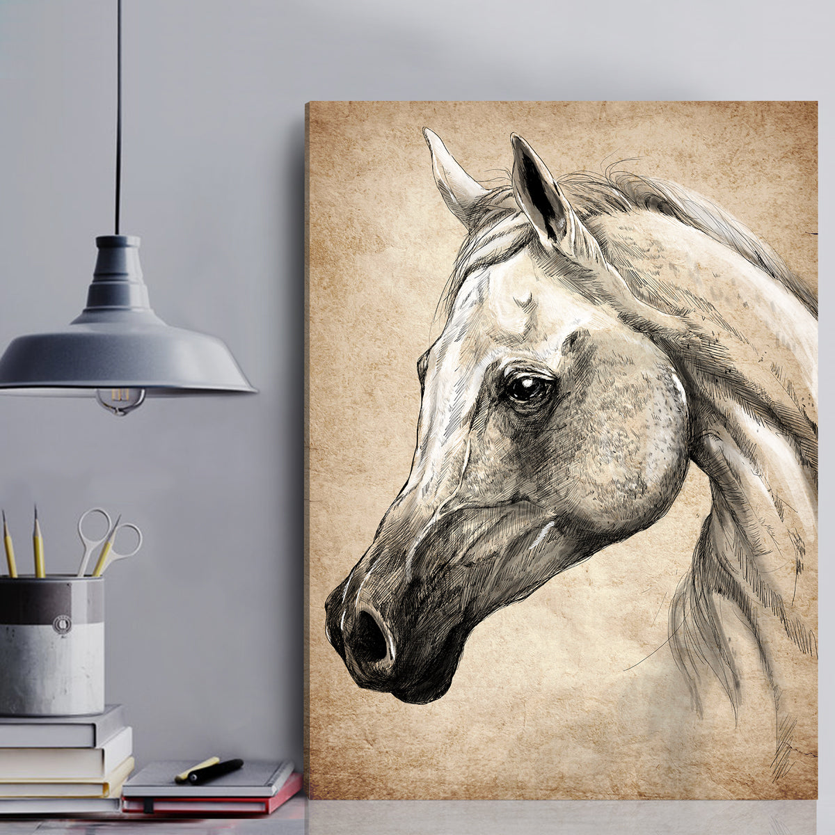 Arabian Horse Canvas Wall Art