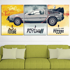 Back to the Future Canvas Wall Art