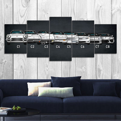 CV Evolution Canvas Wall Art (new)
