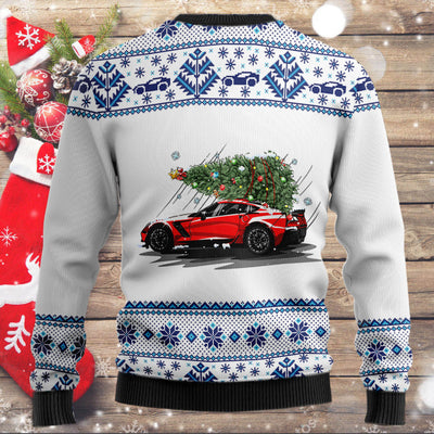 CV Mountain Christmas Tree Wool Ugly Sweater