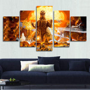Classic Godzilla Canvas Wall Art