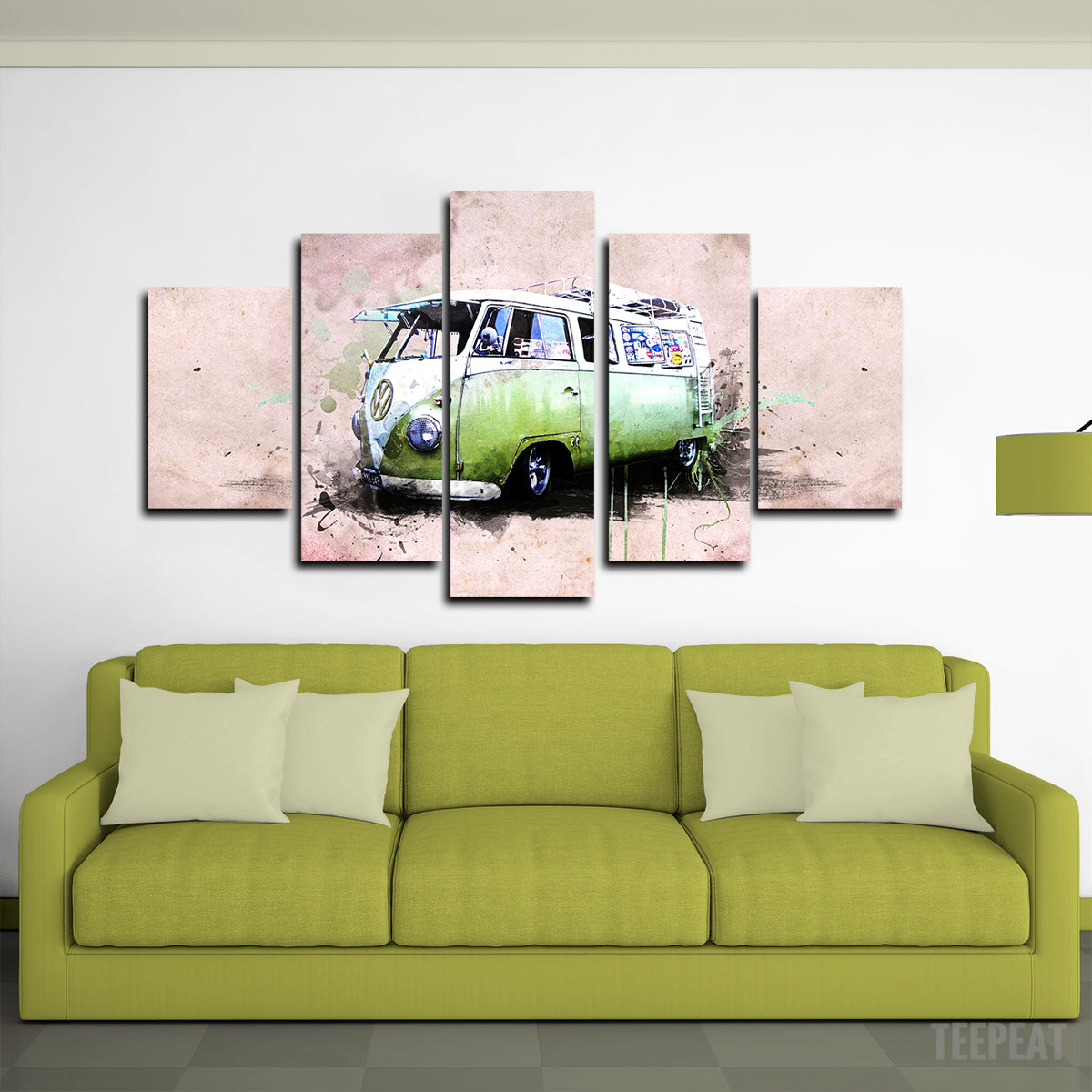 Kombi Canvas Wall Art (Big Size) - TrendySweety