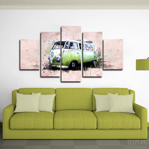 Kombi Canvas Wall Art (Big Size)