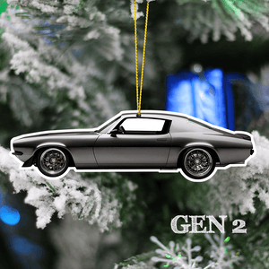 Camaro Christmas Tree Decoration Hanging Ornament Set
