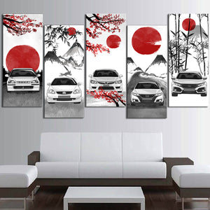Civic Type R Eastern Style Canvas Wall Art