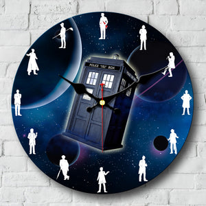 Doctor Who Art Wall Clock