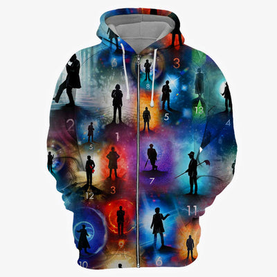 Doctor Who Collection All Over Print Hoodie