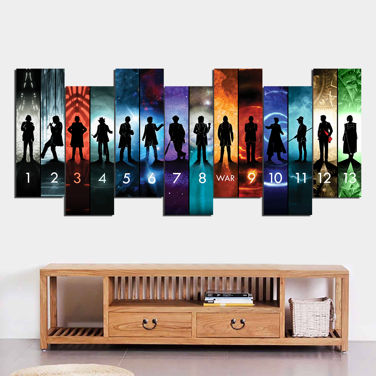 0c38e29ced1 Doctor Who Collection Canvas Wall Art - TrendySweety
