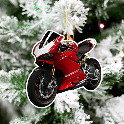 Ducati Christmas Tree Decoration Hanging Ornament Set