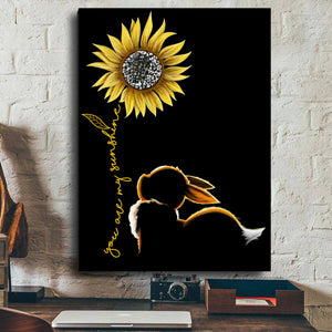 You Are My Sunshine Canvas Wall Art (no.2)