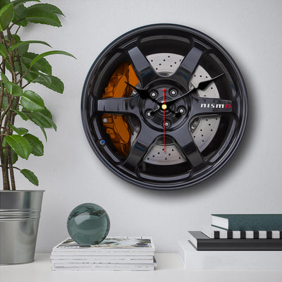 Nissan Skyline Wheels Wall Clock