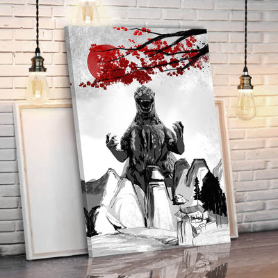 Godzilla Eastern Style Canvas Wall Art