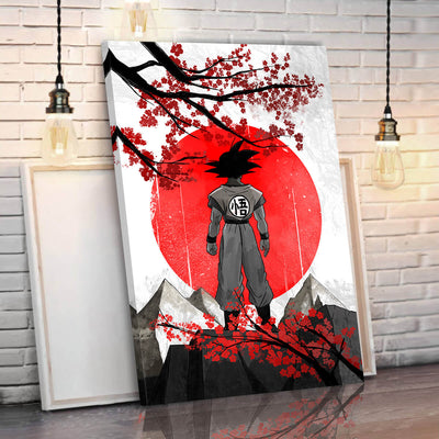 Goku Eastern Style Canvas Wall Art