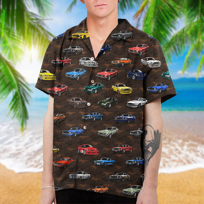 Stang Collection Art Hawaiian Shirt and Beach Short