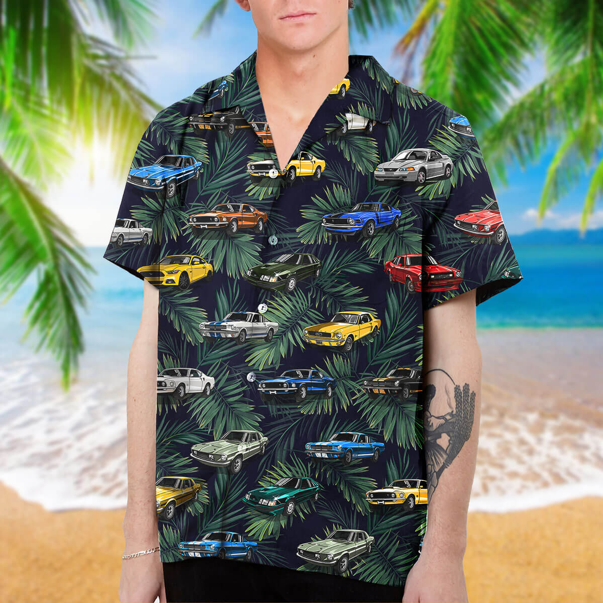 Stang Collection Art Hawaiian Shirt and Beach Short (v.2)