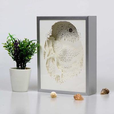 Giraffe In The Forest Shadowbox