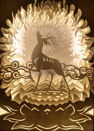 Reindeer And The Lotus Shadowbox