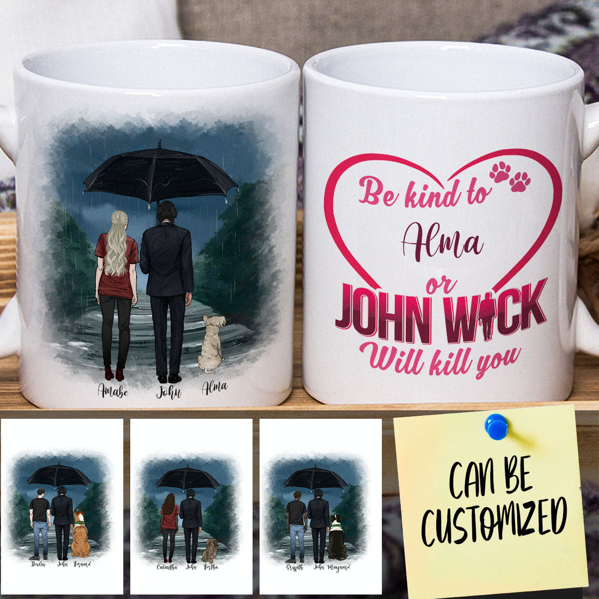 Personalized J.W, You & Your Dog Mug (Female version)